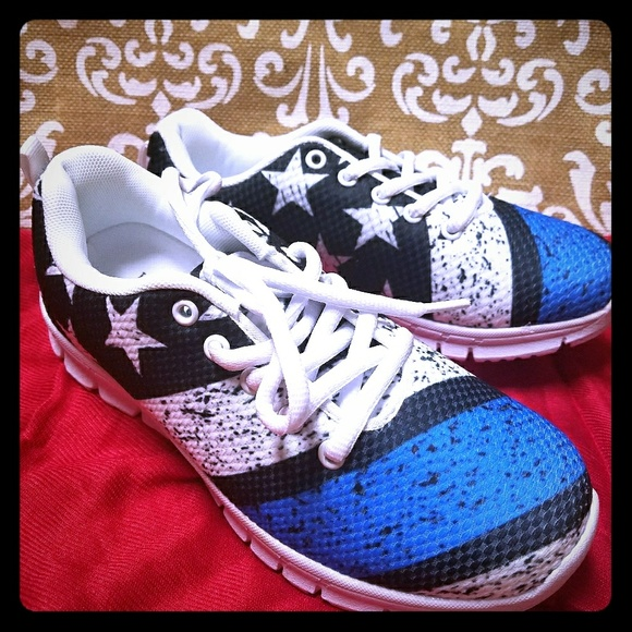 Shoes   Thin Blue Line Sneakers   Poshmark